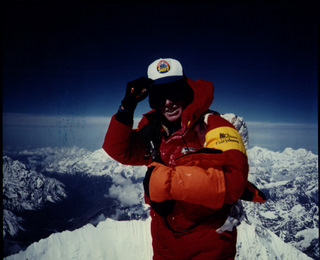 Peter Hillary on the summit of Mt Everest
