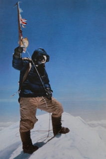 Tenzing Norgay on the summit of Mt Everest, 29 May, 1953  © Royal Geographical Society